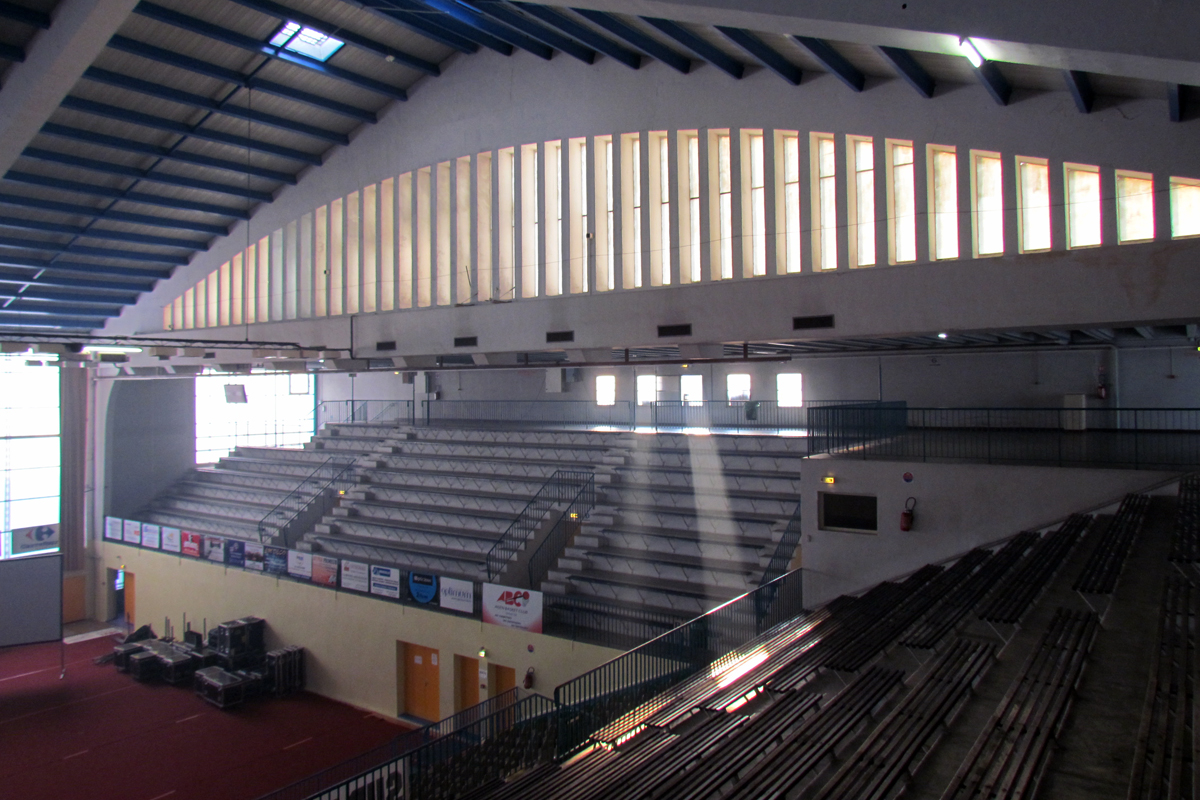 Tribune de la salle de basket-ball du Stadium d'Agen- Lot-et-Garonne - BAT47